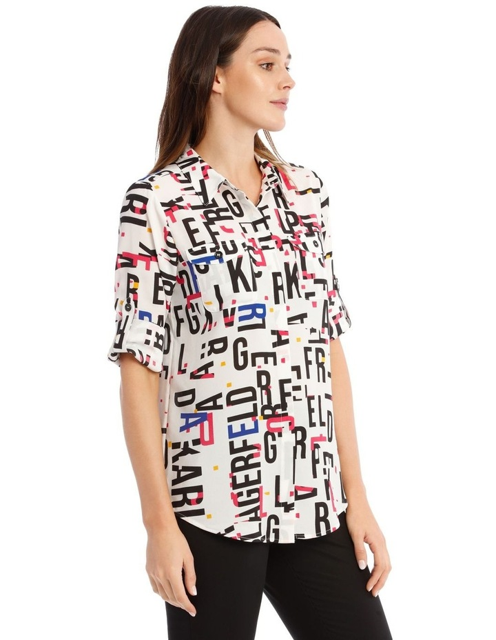 Whimsical Shirt with Bold Letters image 2