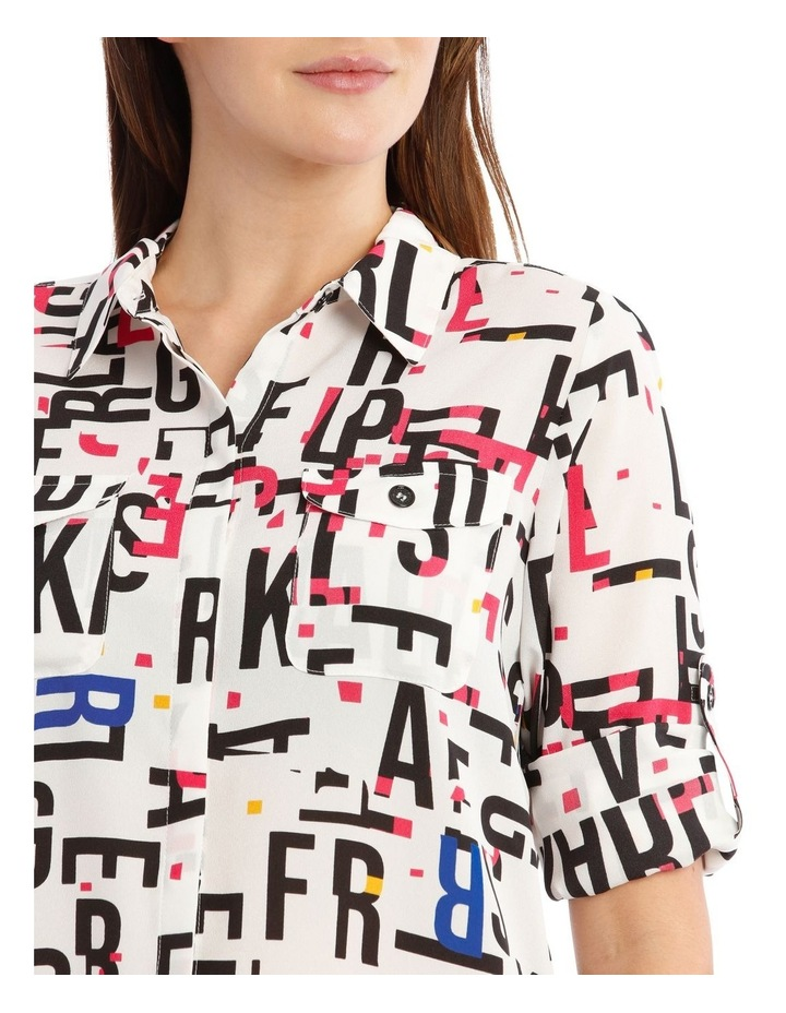 Whimsical Shirt with Bold Letters image 4