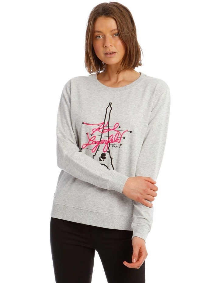 Neon Eiffel Tower Sweatshirt image 1