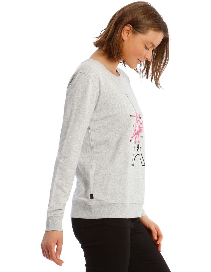 Neon Eiffel Tower Sweatshirt image 2