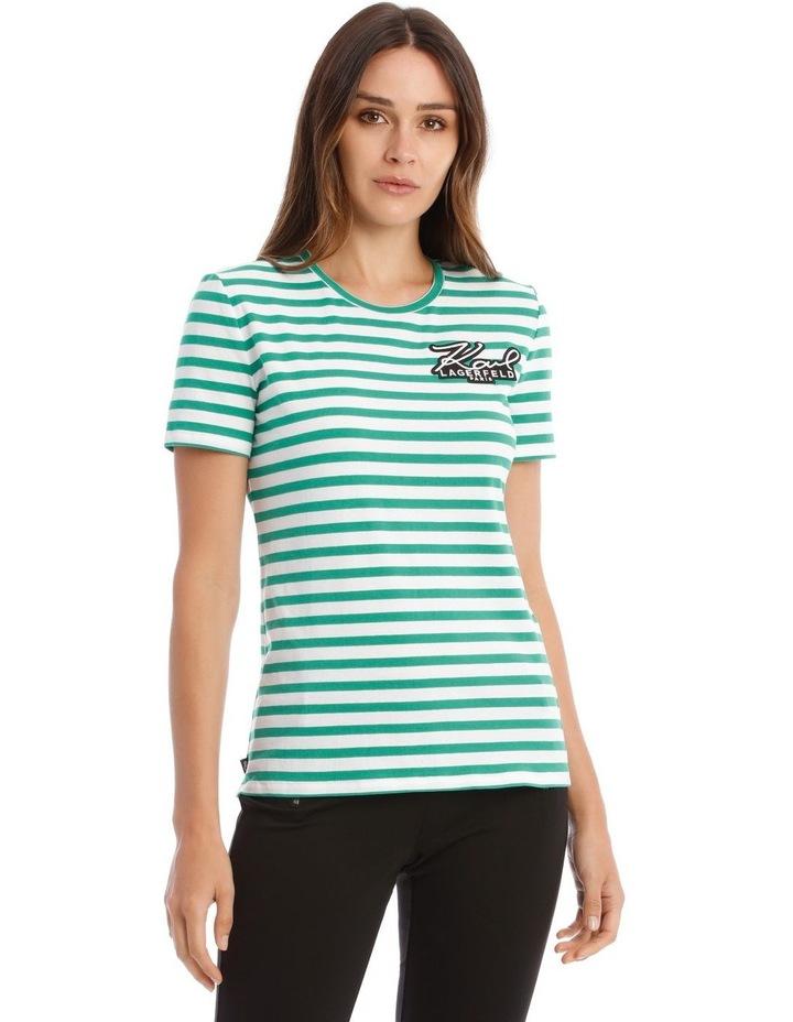 Stripe T-Shirt with Logo image 1