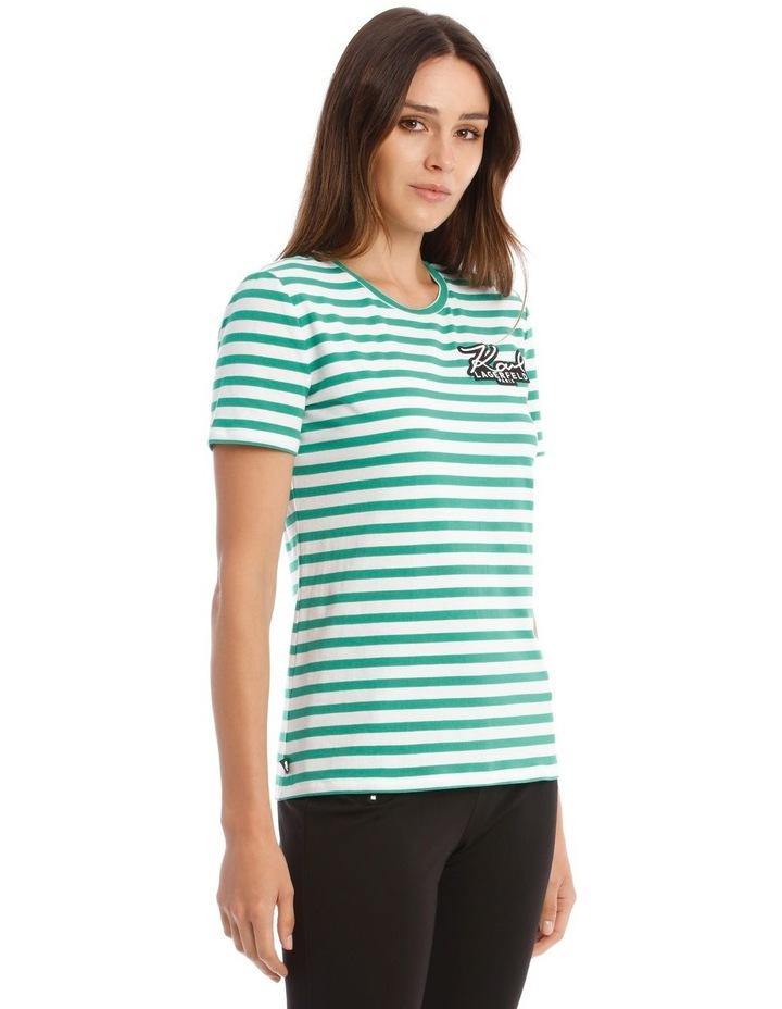 Stripe T-Shirt with Logo image 2