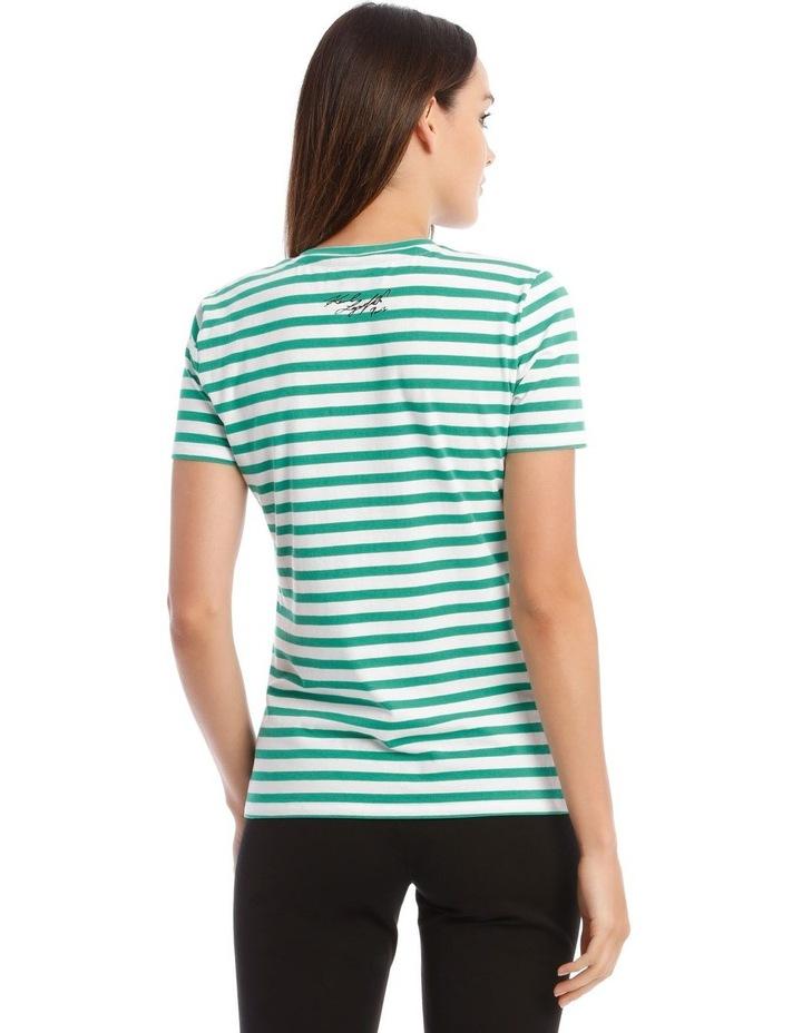 Stripe T-Shirt with Logo image 3
