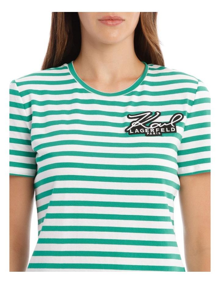 Stripe T-Shirt with Logo image 4