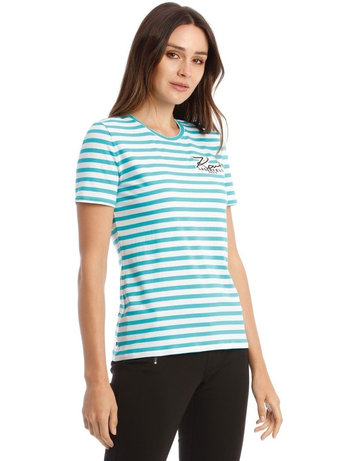Stripe T-Shirt With Logo image 2