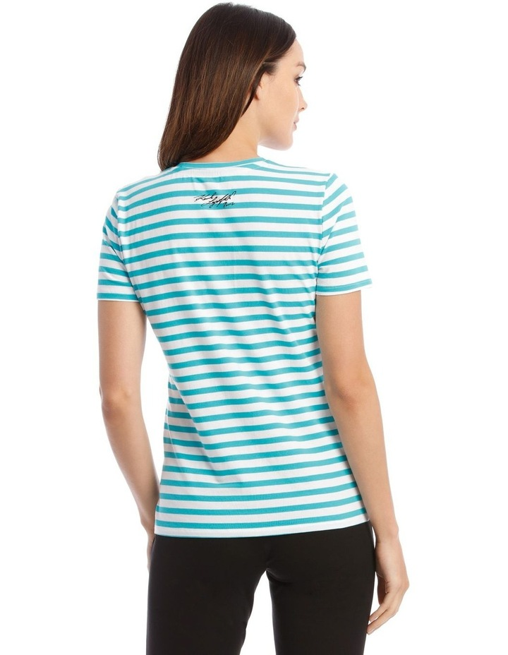 Stripe T-Shirt With Logo image 3
