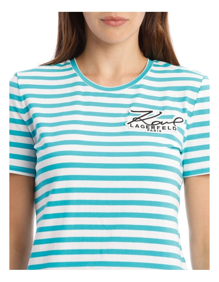 Stripe T-Shirt With Logo image 4
