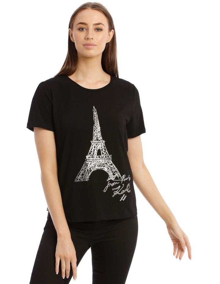 Sequin Eiffel Tower T-Shirt image 1