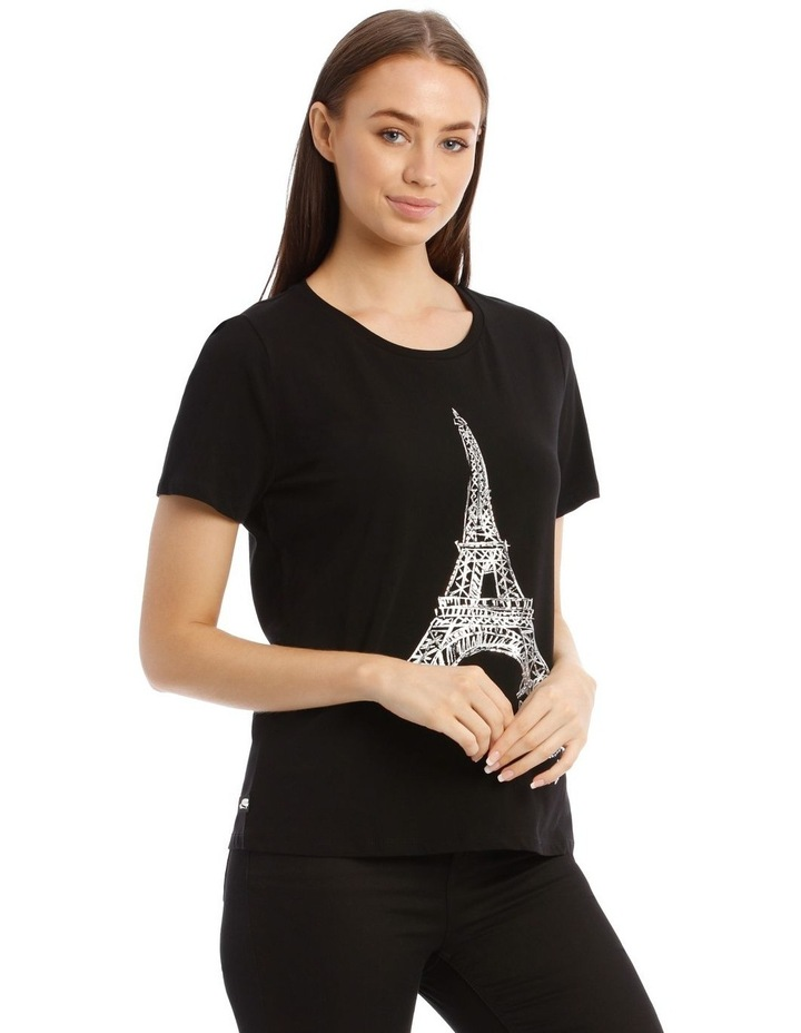 Sequin Eiffel Tower T-Shirt image 3