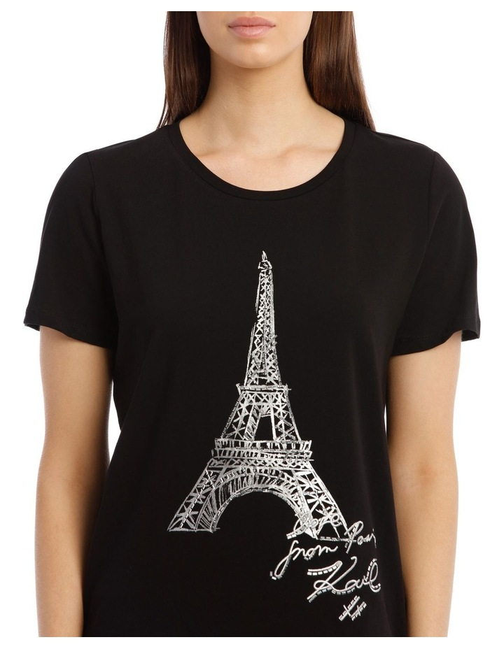 Sequin Eiffel Tower T-Shirt image 4