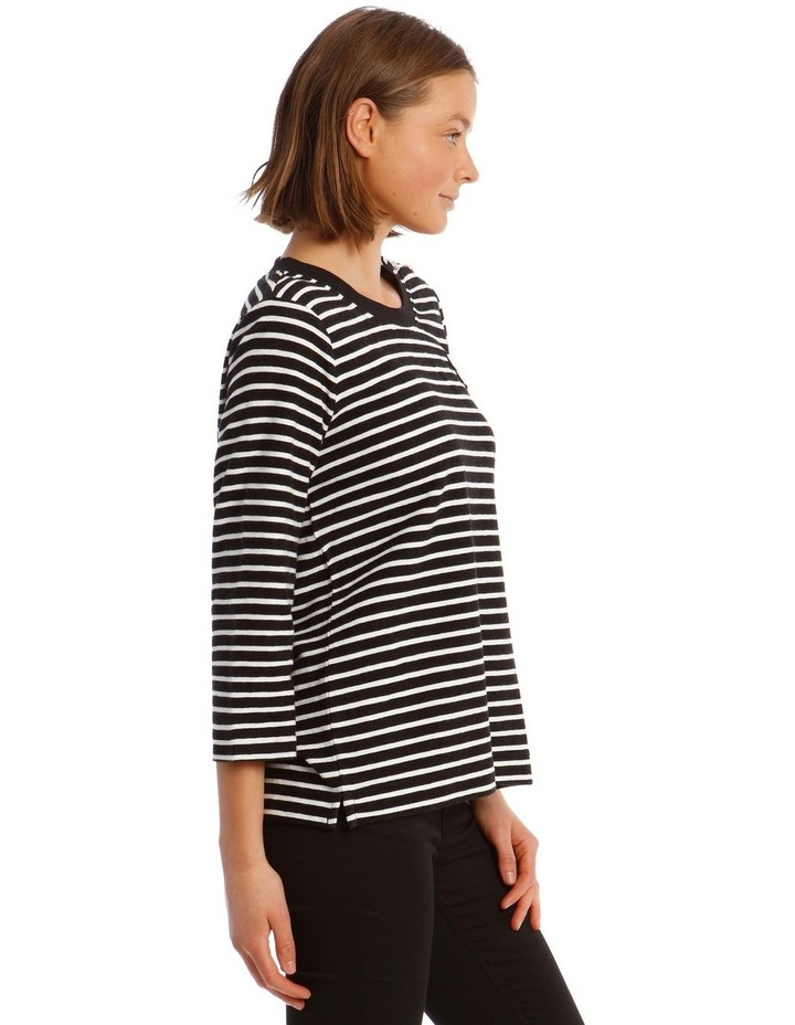 Stripe Knit Xoxo Top image 2