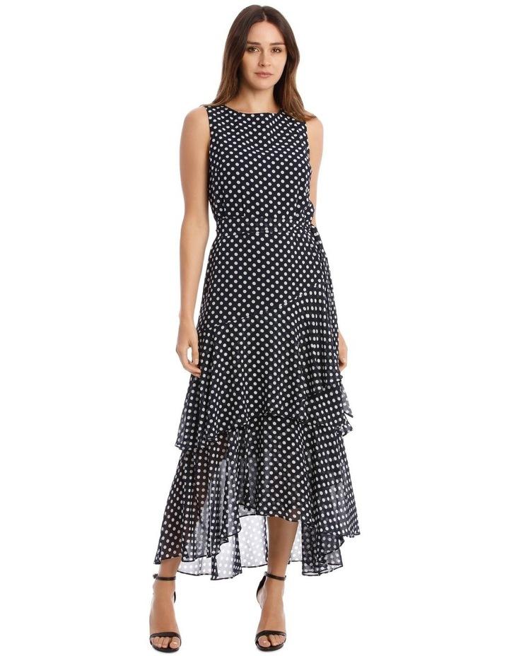 Polkadot Print Sleeveless Maxi Dress image 1