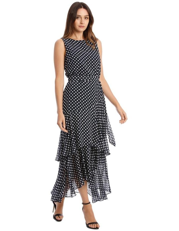 Polkadot Print Sleeveless Maxi Dress image 2