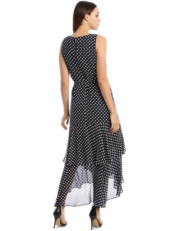 Polkadot Print Sleeveless Maxi Dress image 3