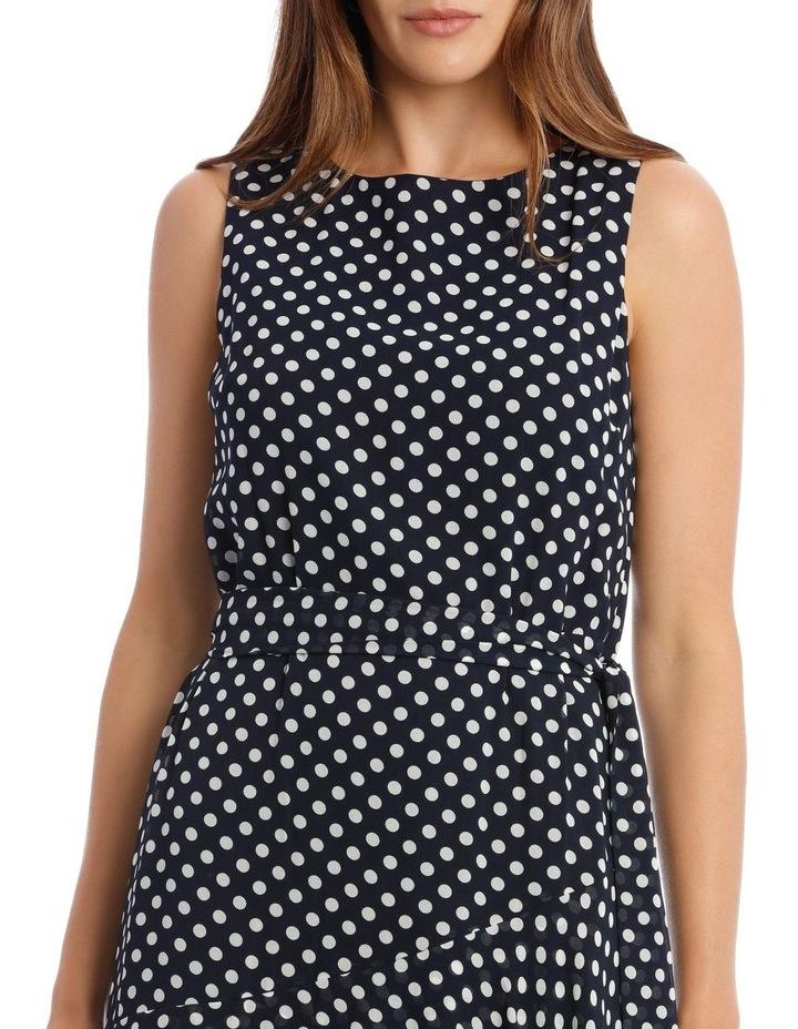 Polkadot Print Sleeveless Maxi Dress image 4