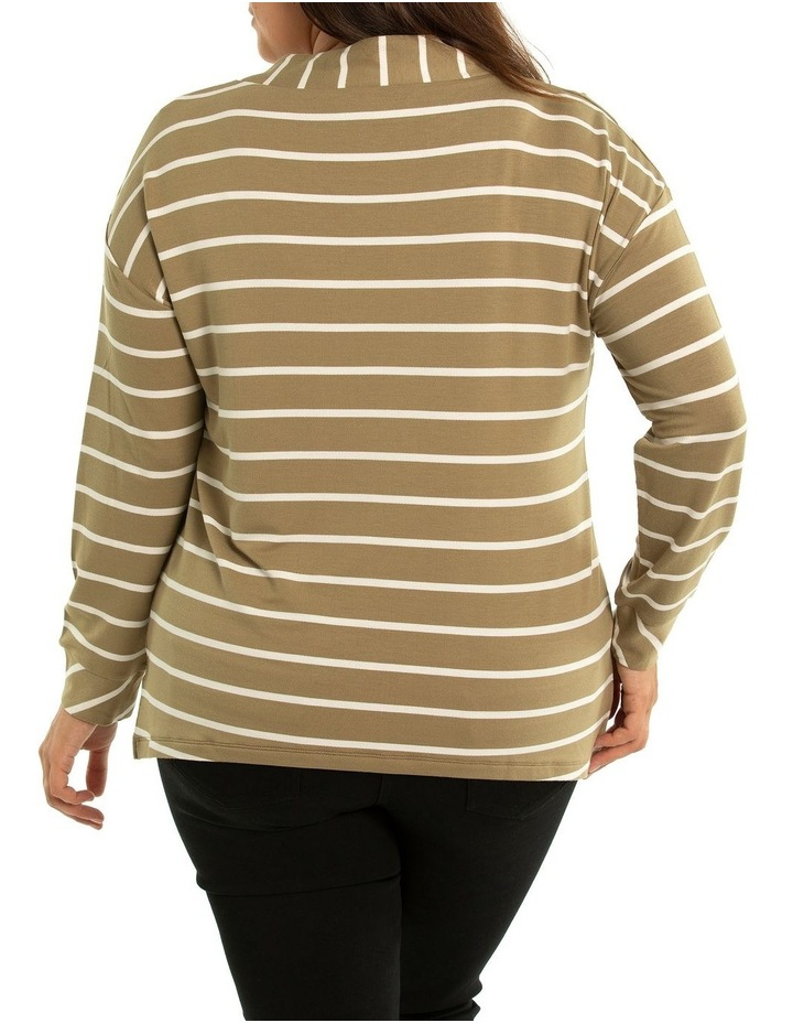 Wrap Collar Stripe Top image 2