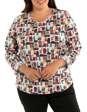 Ladies Gathered Cowl Neck Women Top Monochrome Animal Print Plus Size Nouvelle