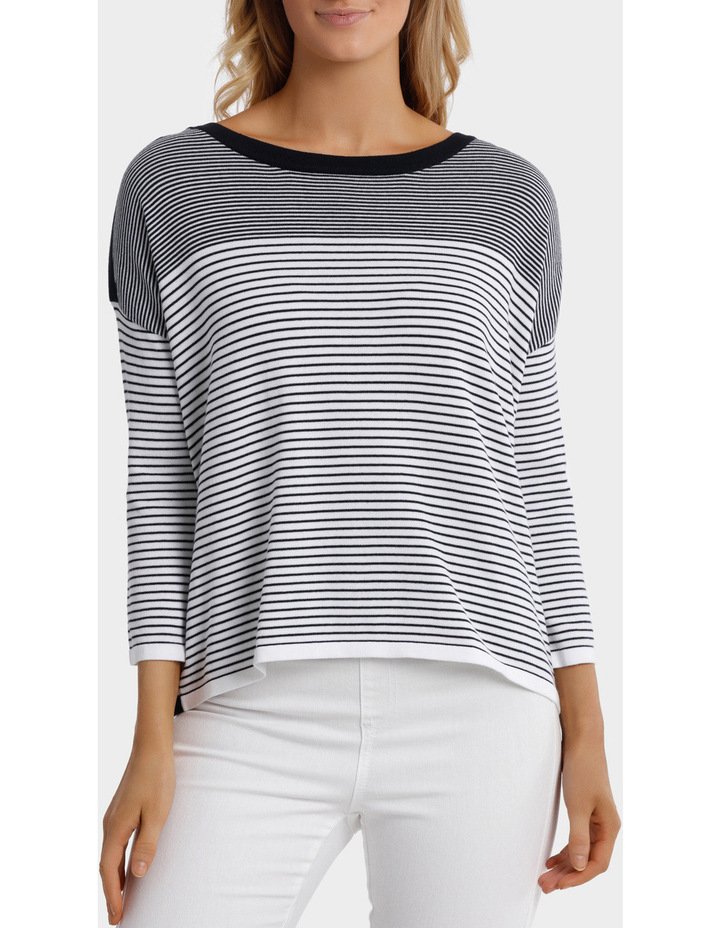 Variegated Stripe Pullover image 1