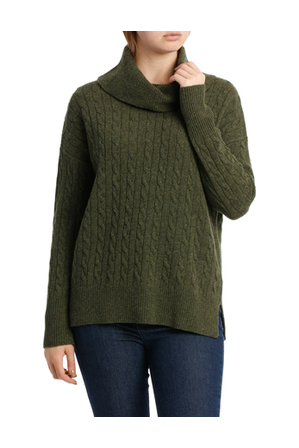 Jump - Longsleeve Cowl Neck Cable Pullover