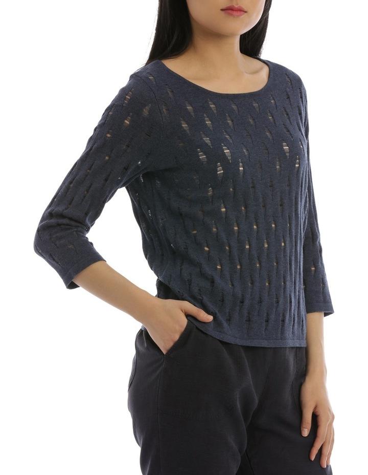 3/4 Sleeve Holey Knit image 2