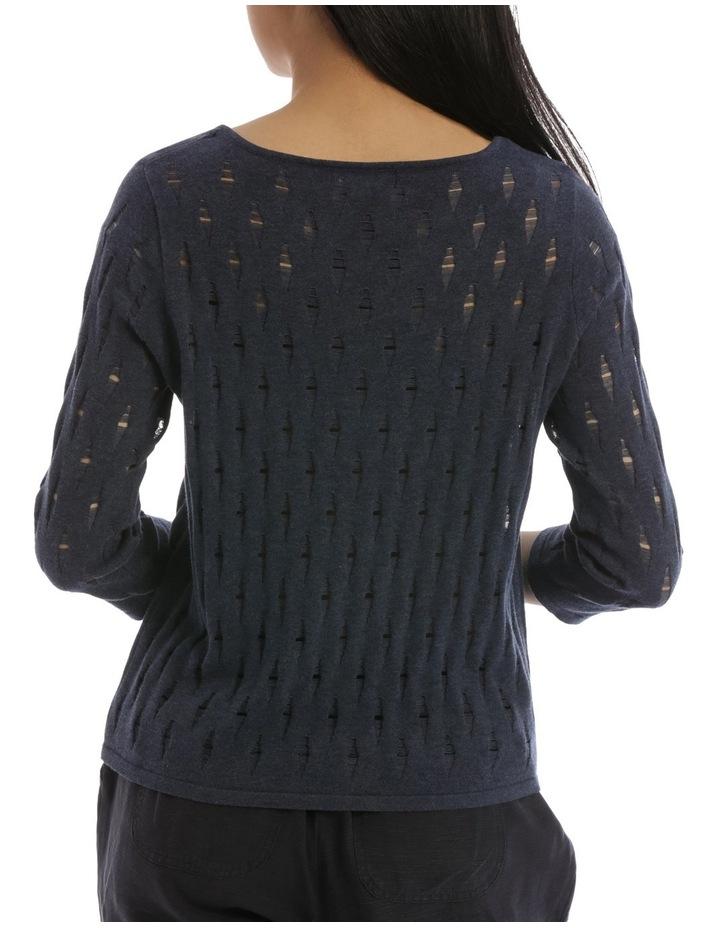 3/4 Sleeve Holey Knit image 3