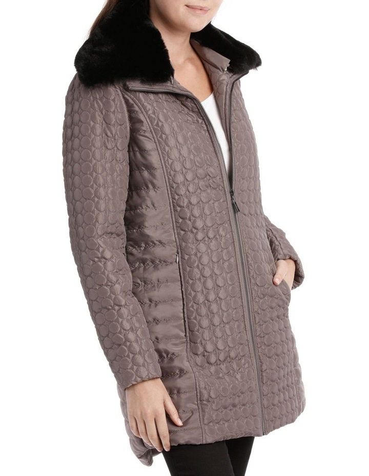Puffer Coat With Fur Collar image 2
