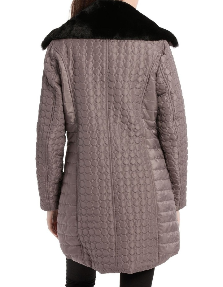 Puffer Coat With Fur Collar image 3
