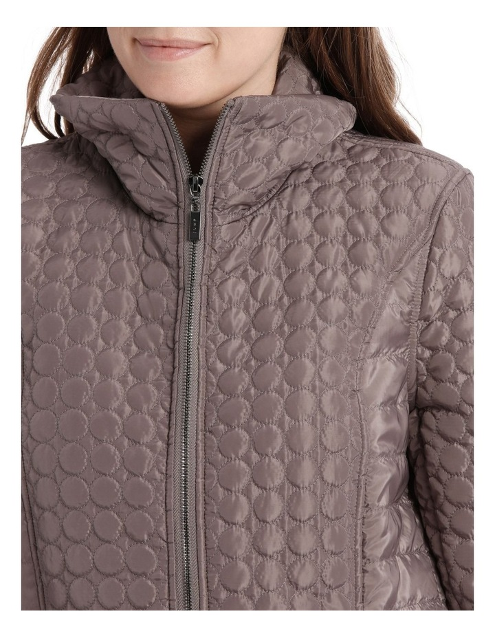 Puffer Coat With Fur Collar image 4