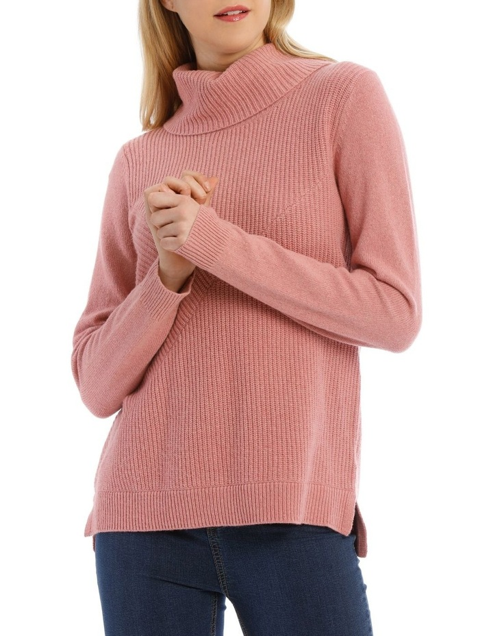 Roll Neck Shaker Stitch Pullover image 1