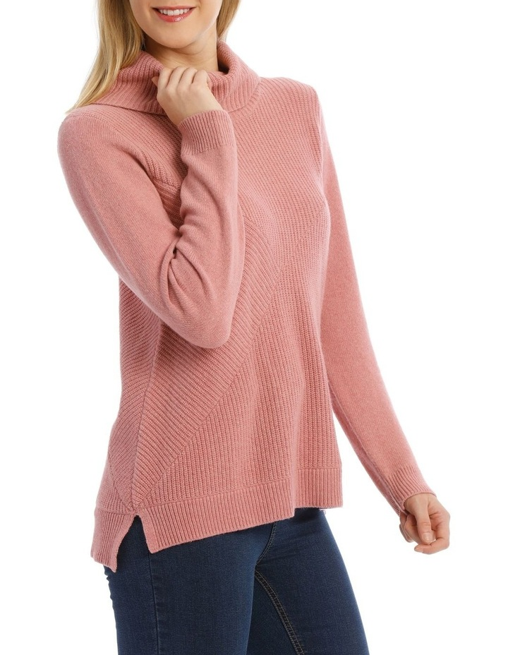 Roll Neck Shaker Stitch Pullover image 2