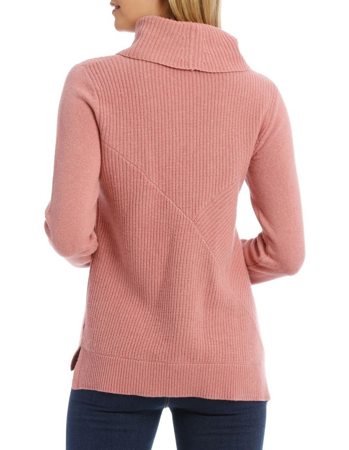 Roll Neck Shaker Stitch Pullover image 3