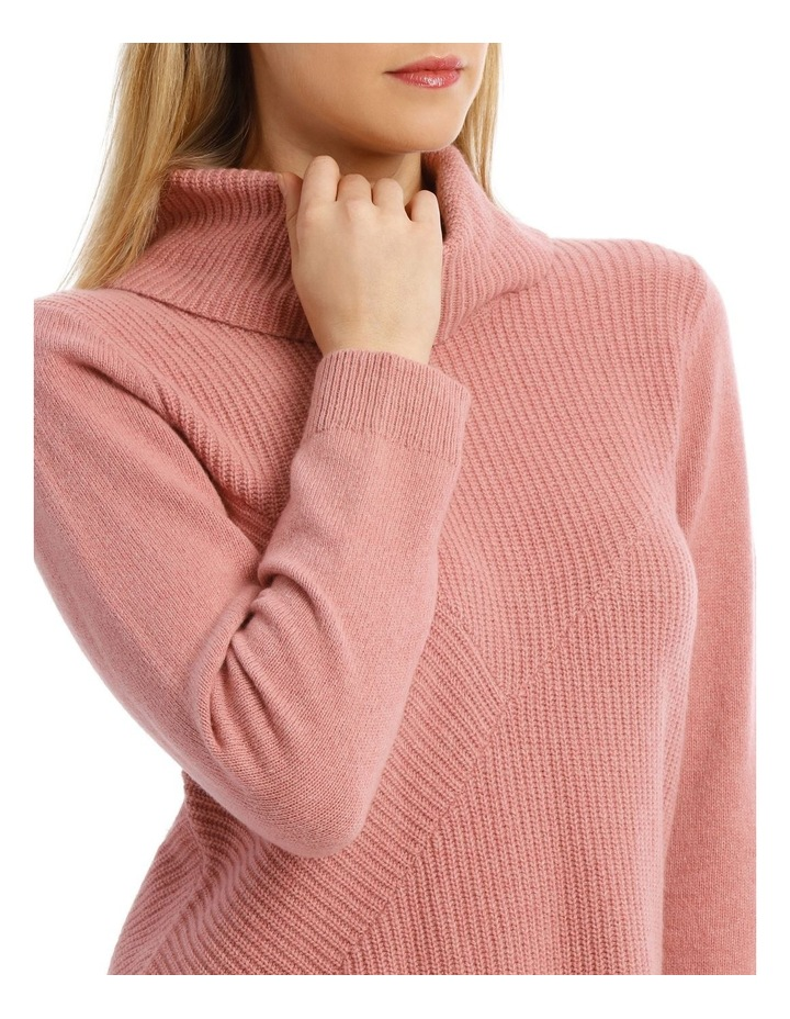 Roll Neck Shaker Stitch Pullover image 4