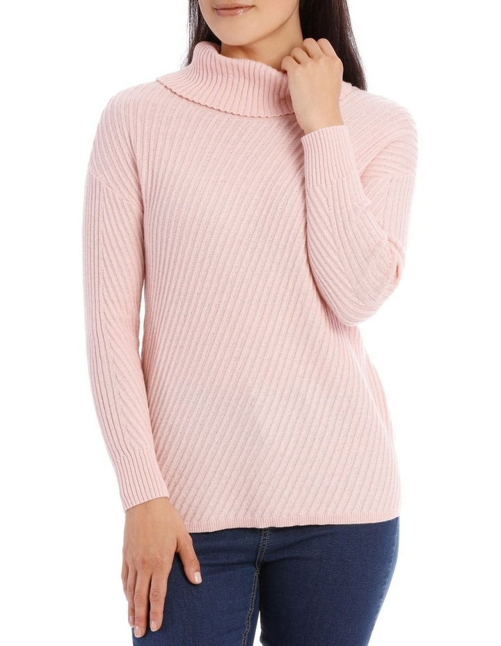 Long Sleeve Diagonal Cowl Neck P/Over image 1