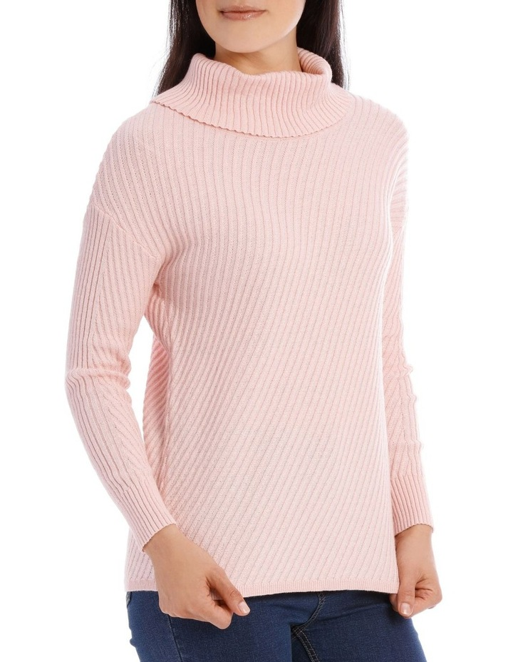 Long Sleeve Diagonal Cowl Neck P/Over image 2