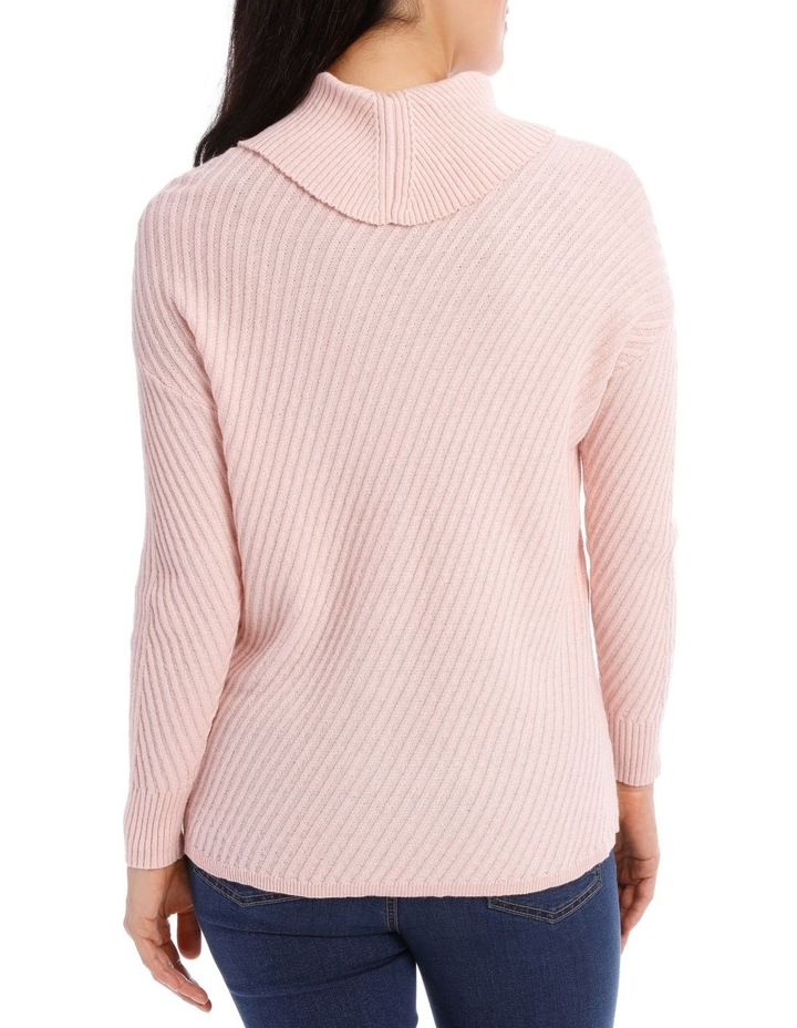 Long Sleeve Diagonal Cowl Neck P/Over image 3