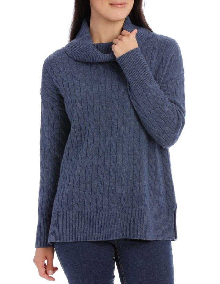 Long Sleeve Cowl Neck Cable P/Over image 1