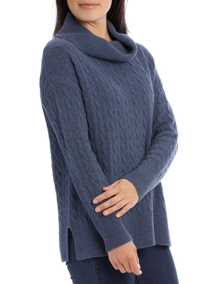 Long Sleeve Cowl Neck Cable P/Over image 2