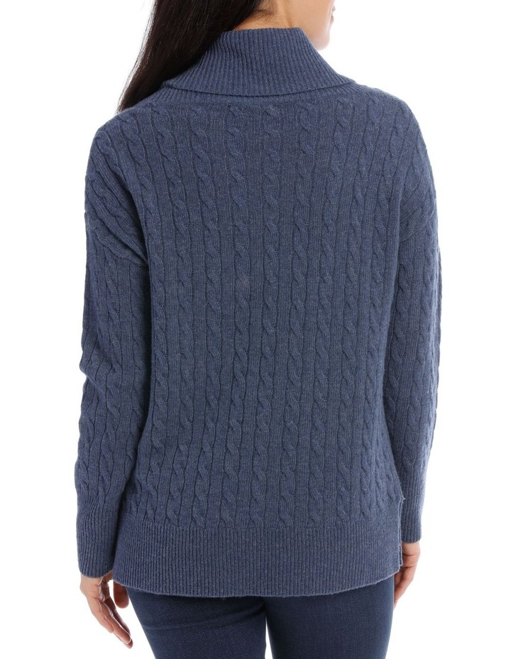 Long Sleeve Cowl Neck Cable P/Over image 3