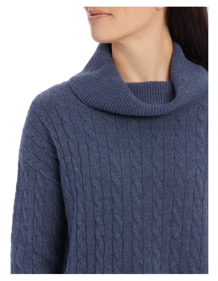 Long Sleeve Cowl Neck Cable P/Over image 4