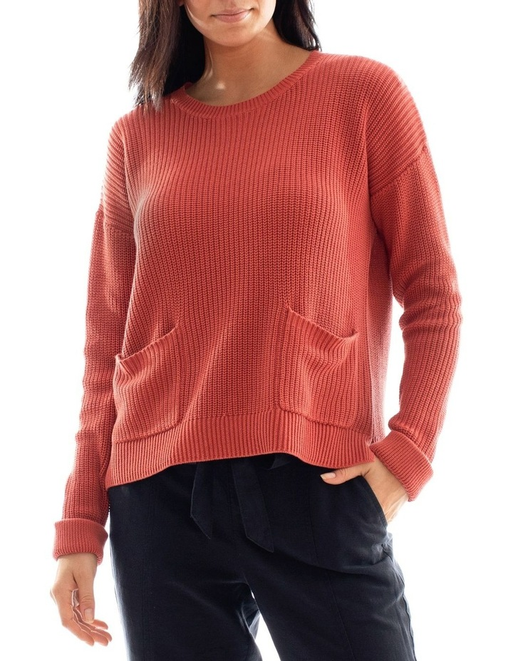 Long Sleeve Cropped Rib Pullover image 1