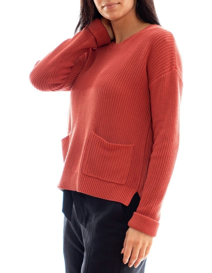 Long Sleeve Cropped Rib Pullover image 2