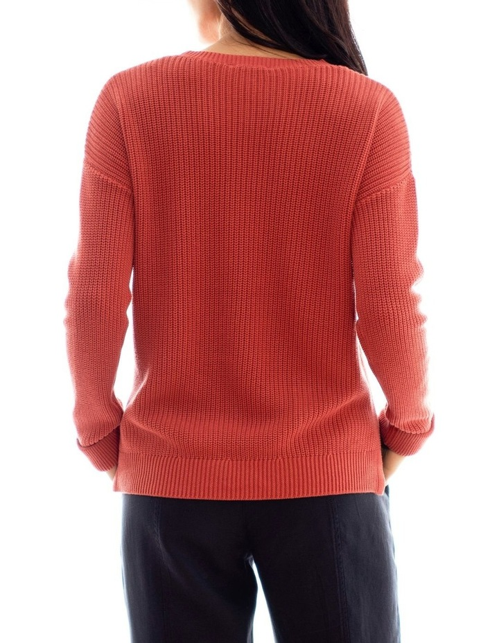 Long Sleeve Cropped Rib Pullover image 3