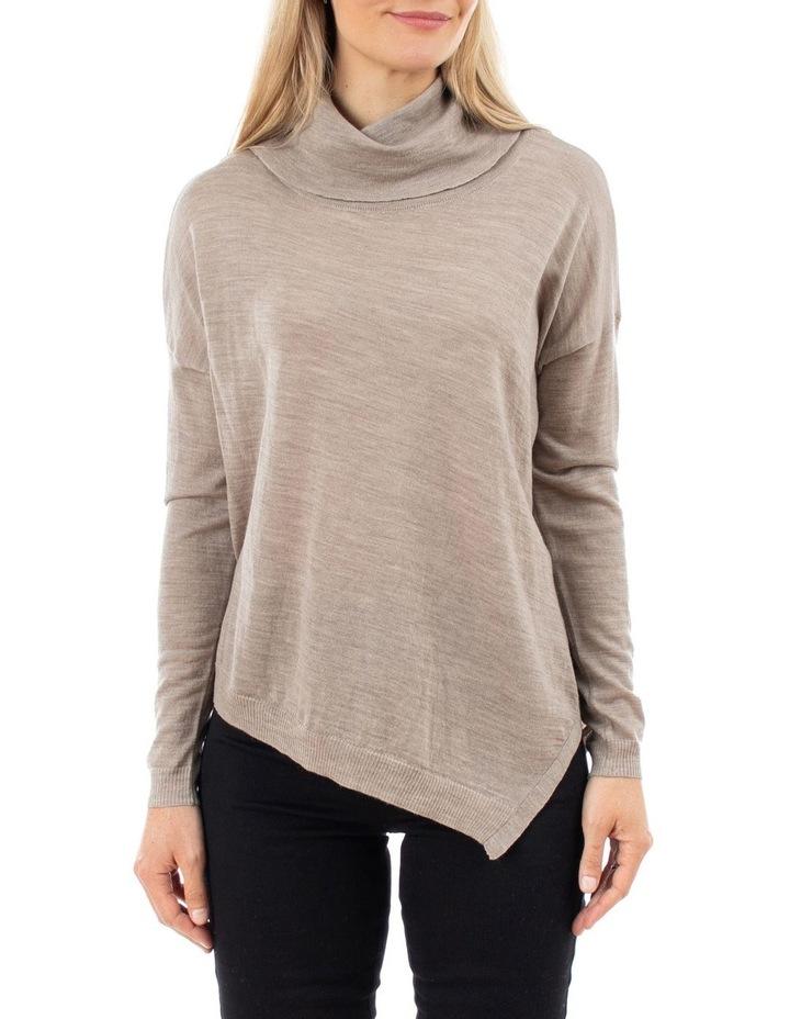 Cowl Neck Asymmetric Pullover image 1