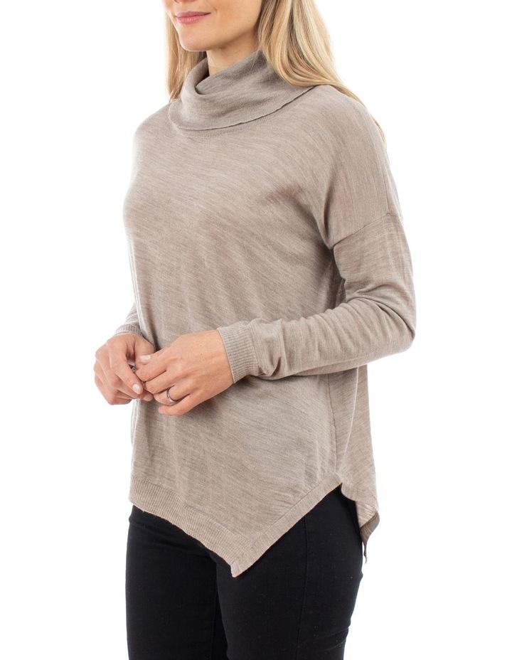 Cowl Neck Asymmetric Pullover image 2