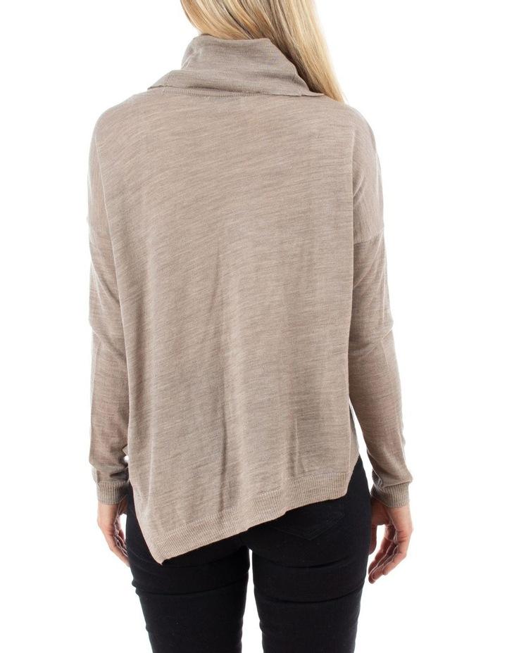 Cowl Neck Asymmetric Pullover image 3