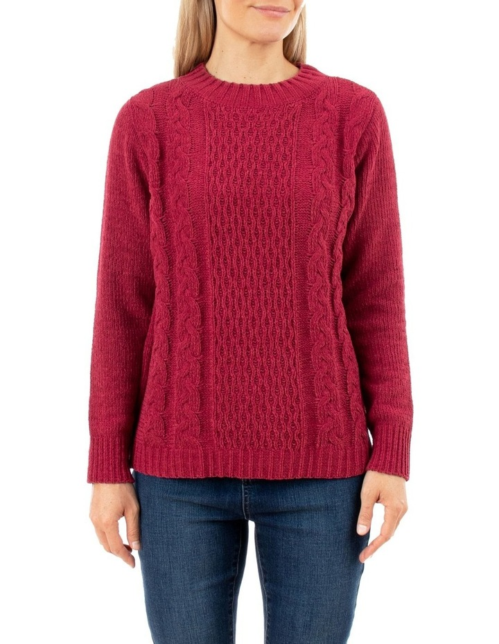Chenille Cable Pullover image 1