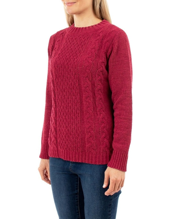 Chenille Cable Pullover image 2