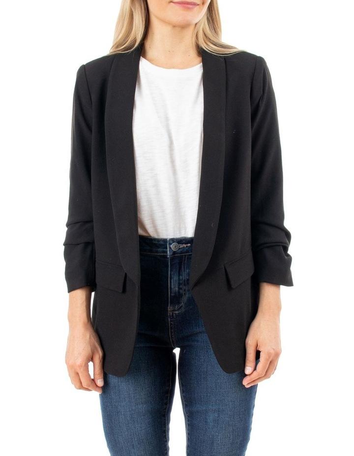 Rouched Sleeve Blazer image 1