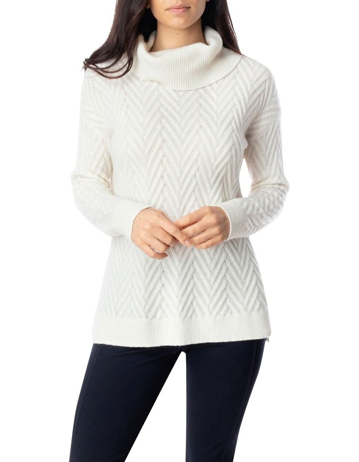 Long Sleeve Shaker Stitch Side Button Pullover image 1