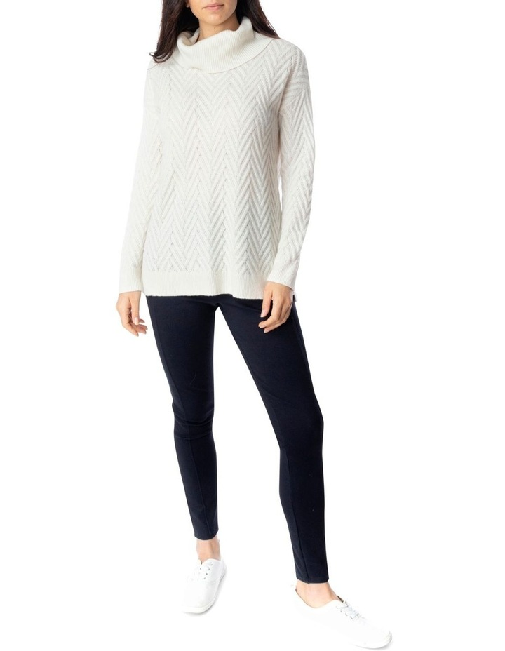 Long Sleeve Shaker Stitch Side Button Pullover image 2